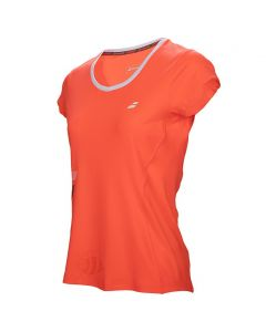 BABOLAT-T-SHIRT-CORE-FLAG-CLUB-RED-LADY-1