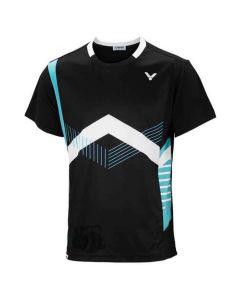 VICTOR-T-SHIRT-S-3806-BLACK/SKY-BLUE-1
