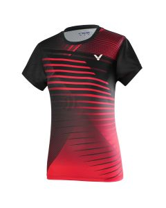 VICTOR-T-SHIRT-T-01001TD-RED/BLACK-LADY-1