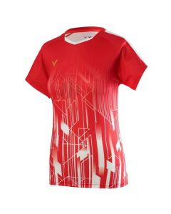 VICTOR-T-SHIRT-T-01002TD-RED-LADY-1