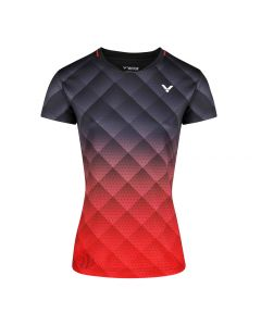 small-VICTOR-T-SHIRT-T-14100-BLACK/RED-LADY-1