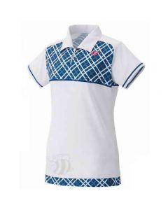 YONEX-POLO-20247-WHITE/BLUE-LADY-1