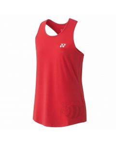 YONEX-T-SHIRT-16432-RED-SLEEVELESS-LADY-1