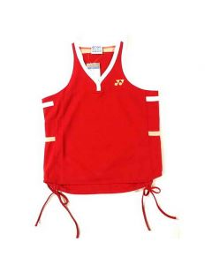 YONEX-T-SHIRT-2023-RED-SLEEVELESS-LADY-1